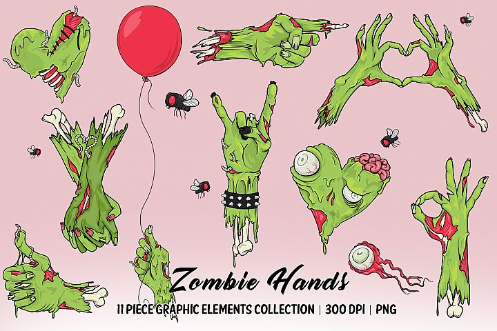 Zombie Hands Elements Collection