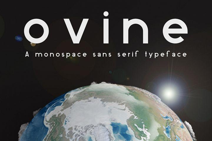 ovine Monospace Sans Serif Typeface