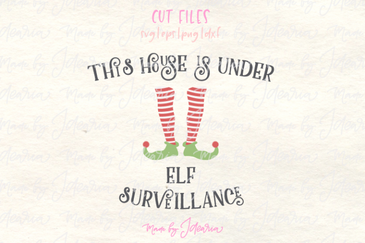 Elf Surveillance Svg or Elf Cam Svg as Christmas Svg Files