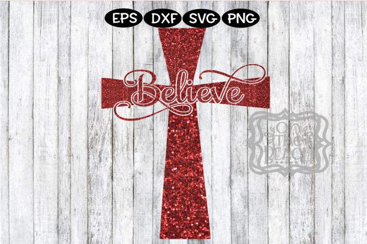 Christmas SVG, Christmas, Believe, Believe svg, Cross