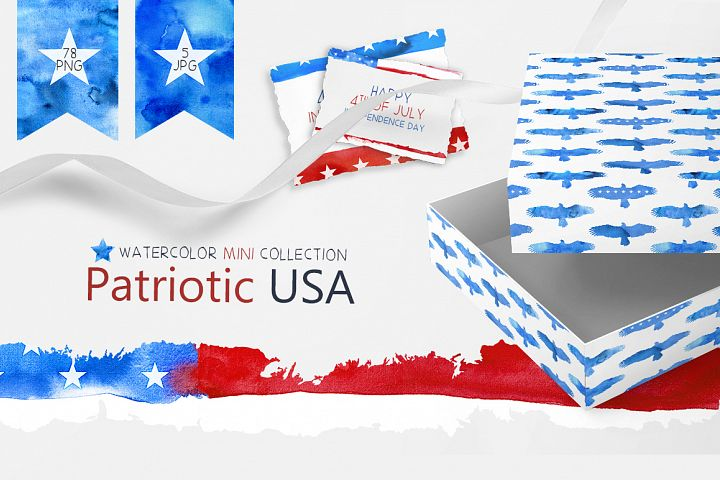 Patriotic USA. MINI Collection.