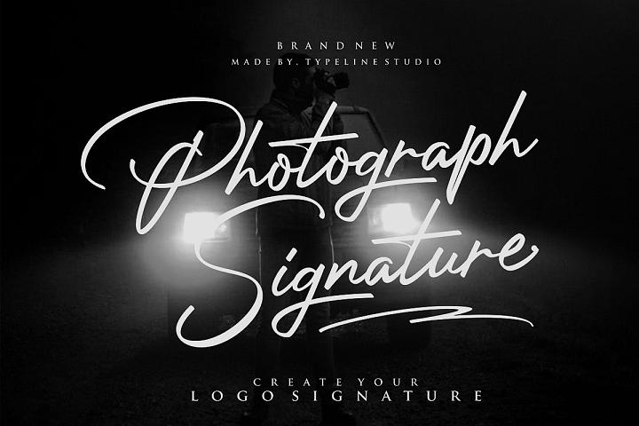 Photograph Signature Logo fonts