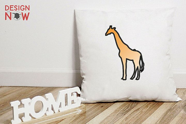 Giraffe Applique Design, GiraffeEmbroidery Pattern, Animals