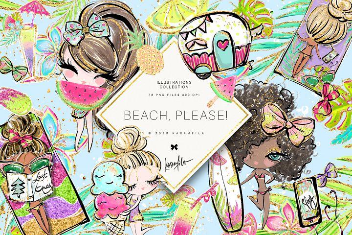 Beach Camper Clipart