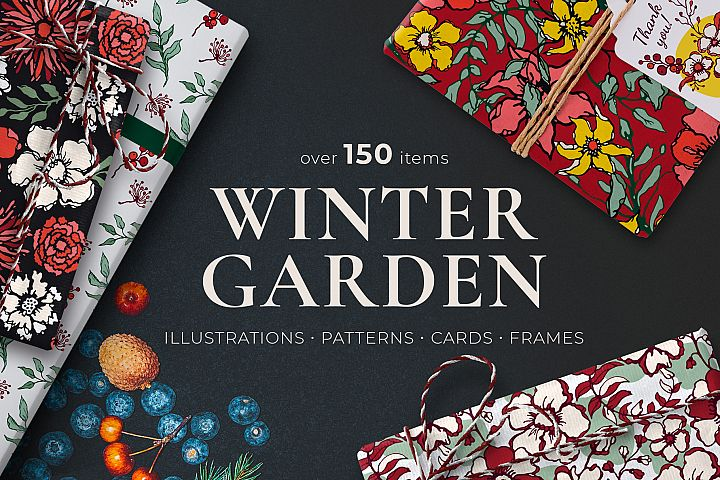 Winter Floral Patterns & Illustrations