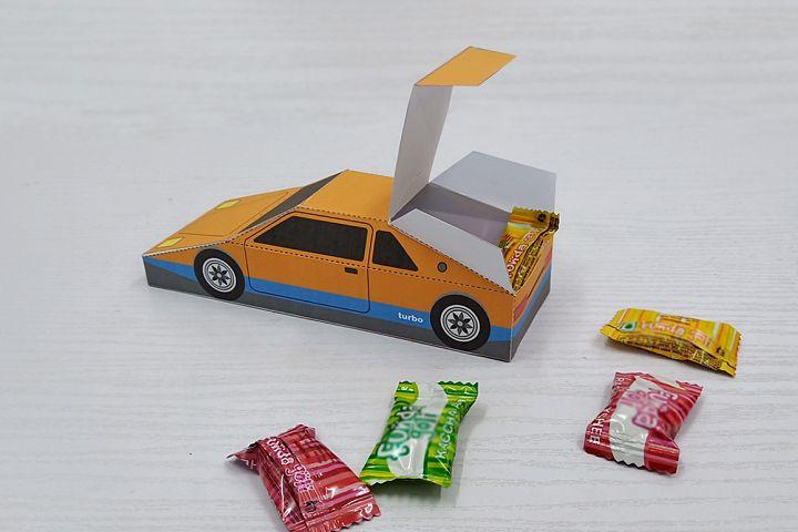 DIY printable Car favor,papercraft,Babyshower favor