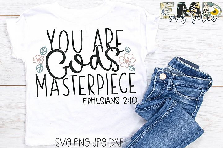 Christian Svg File | You are Gods Masterpiece Svg