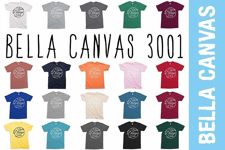 20 Mockups Bella Canvas 3001 Unisex Tshirt
