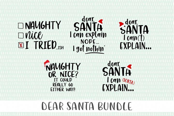Dear Santa Christmas SVG Bundle