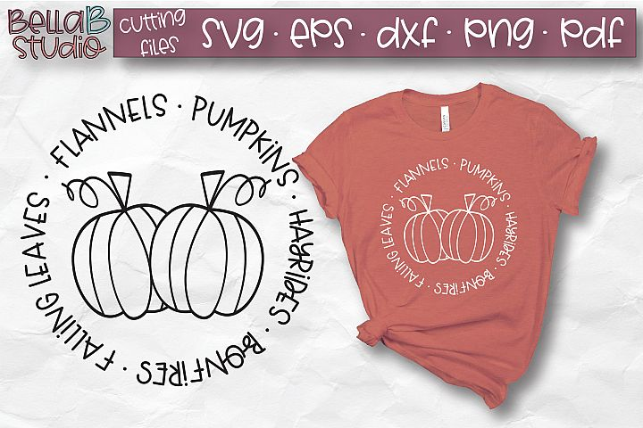 Flannels Pumpkins Hayrides Bonfires Falling Leaves SVG, Fall
