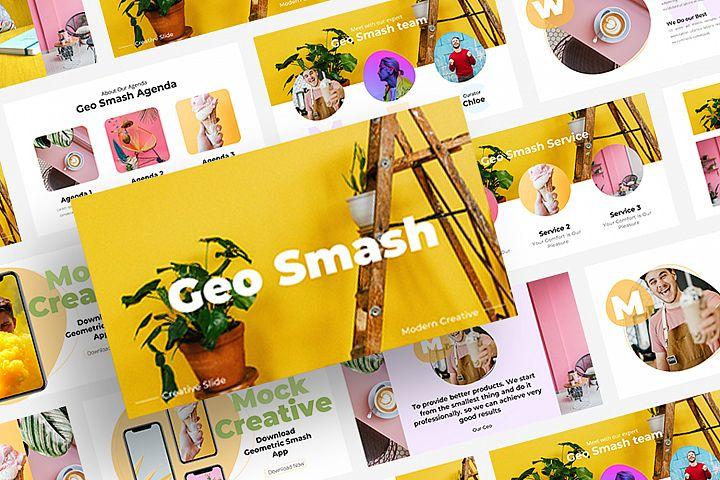 Geo Smash - Modern Keynote Template
