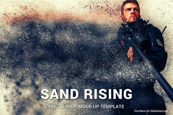 Sand Rising Photoshop Mock-ups