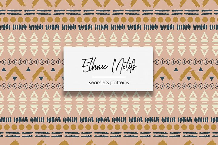 Ethnic Motifs- Seamless Patterns