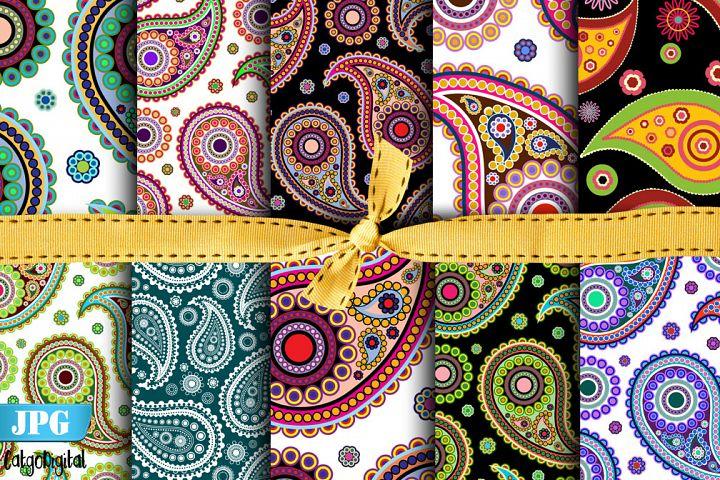 Paisley digital paper Paisley Pattern