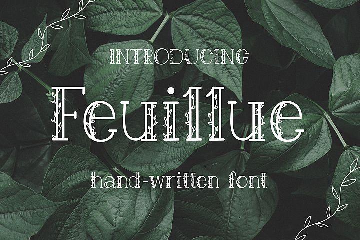 Feuillue   serif font