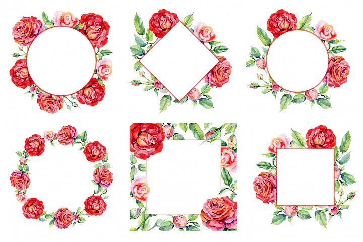 Roses PNG watercolor flower set - Free Design of The Week Design 2