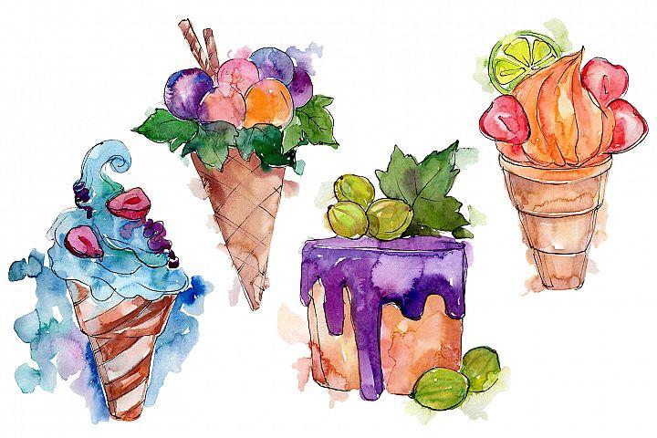 Fruit Dissert Watercolor png