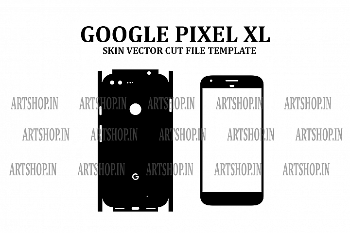 Google Pixel XL Vinyl Skin Vector Cut File