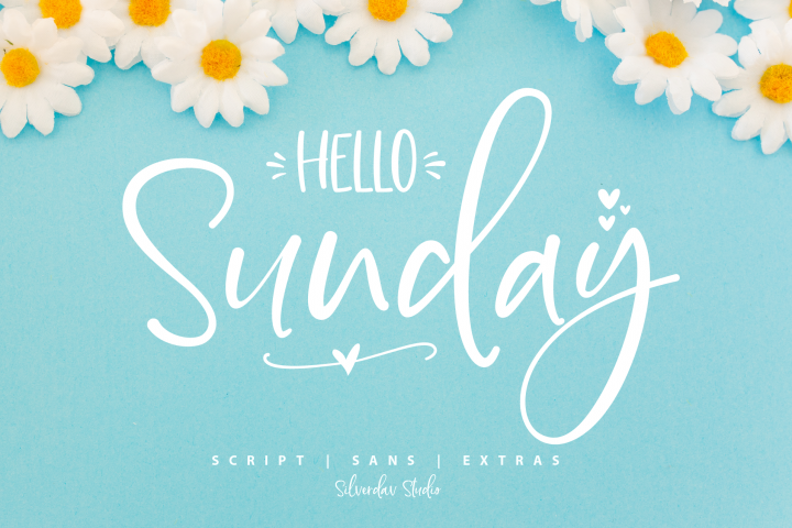 Hello Sunday Font Duo & Extras