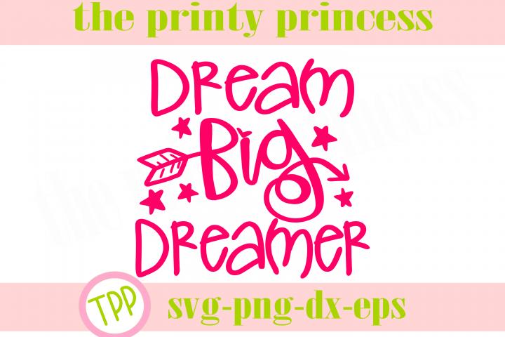Dream Big Dreamer svg, Dream svg design file png dxf
