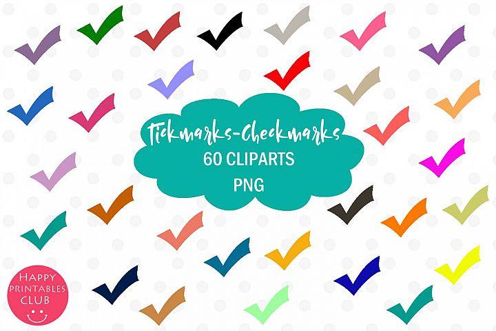 60 Tickmarks Clipart-Checkmarks Clipart-Rainbow Tickmarks