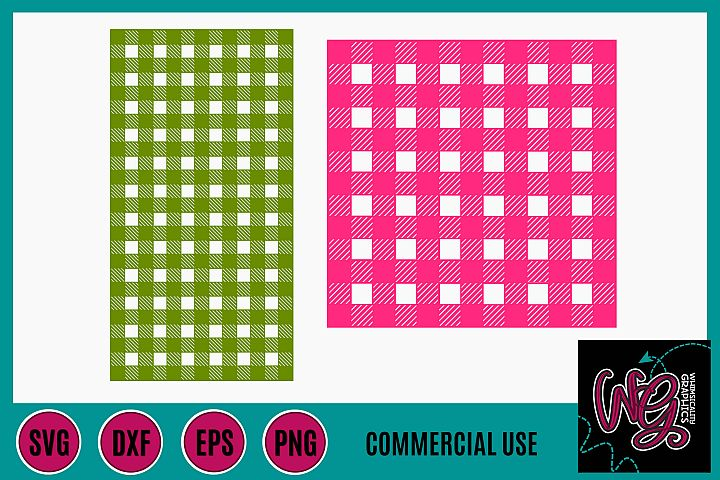 Buffalo Plaid Stencil SVG DXF PNG EPS Commercial