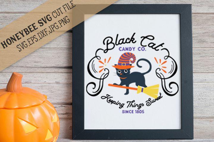 Black Cat Candy Co SVG Cut File