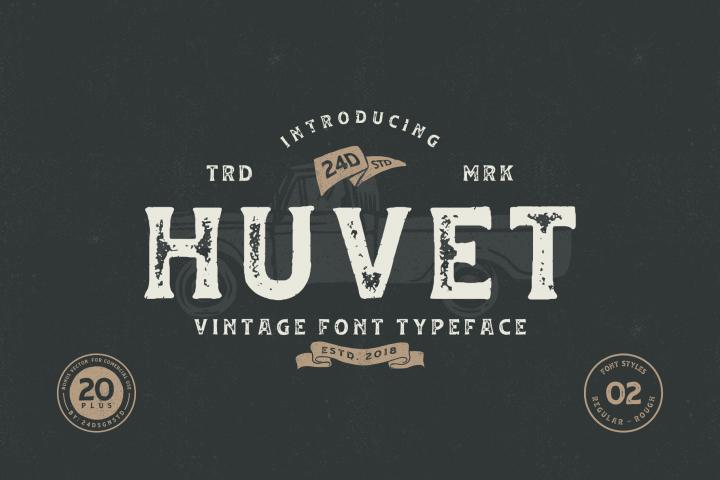 Huvet Typeface