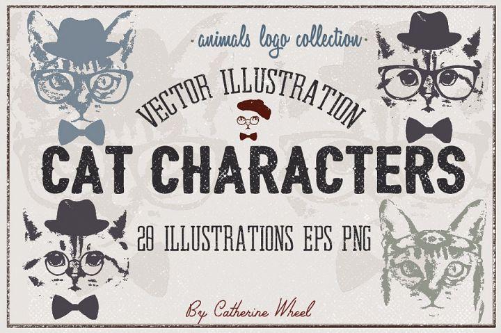 Vector Cat Characters