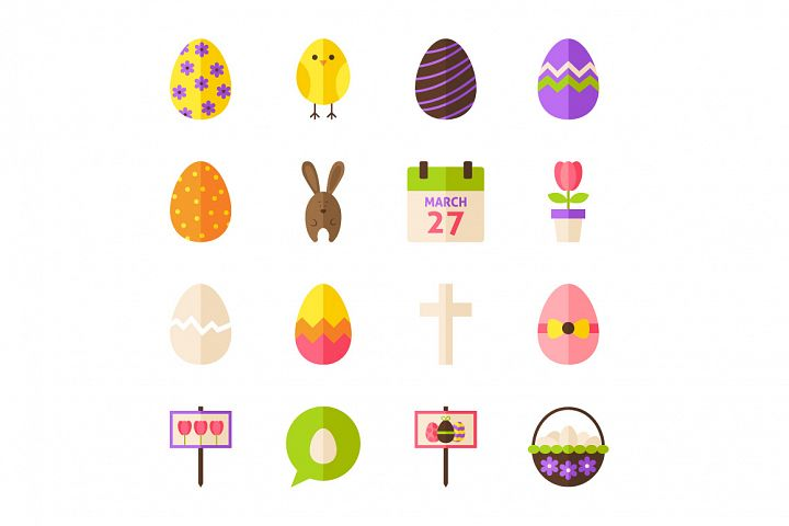 Happy Easter Vector Isolated Objects example 3
