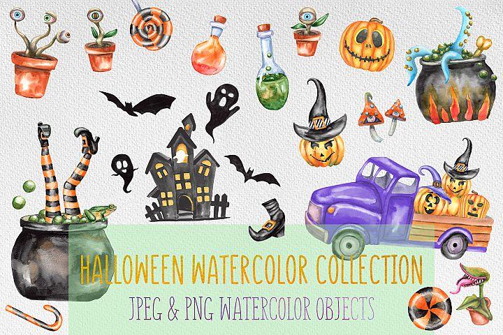 Watercolor Halloween set