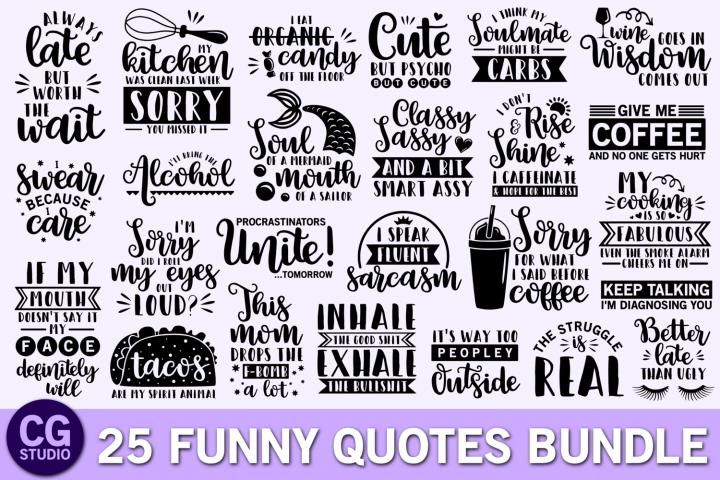 Funny quotes svg bundle, coffee svg, mom svg, mermaid svg