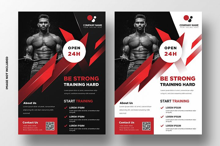 Fitness Flyer Template. Part 3