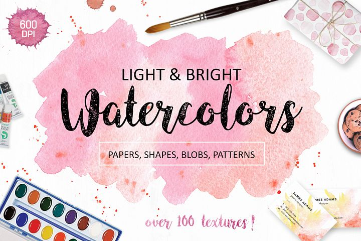 Watercolor Textures. Light & Bright