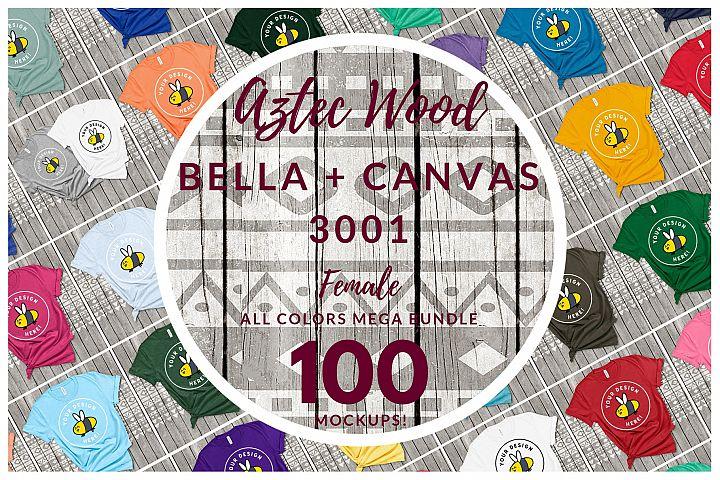 Womens Bella Canvas 3001 Mega Bundle All Colors Aztec Style