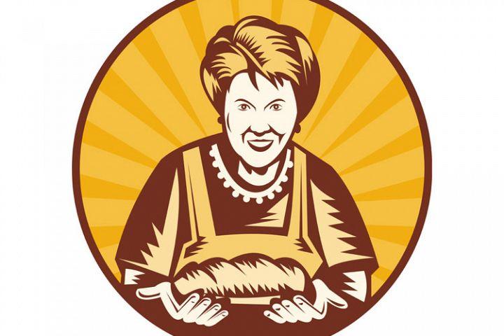Grandma granny baker cook loaf bread