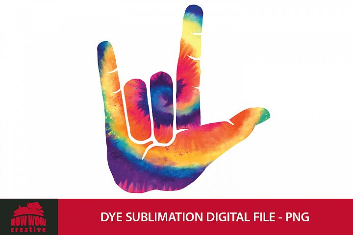 I Love You Hand Sign - Dye Sublimation PNG