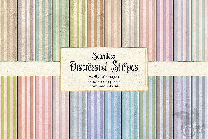 Distressed Stripes Digital Paper