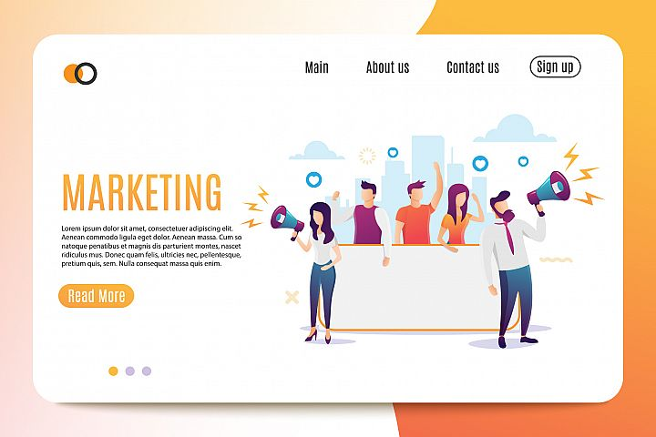 Marketing. Flat Style. Banner