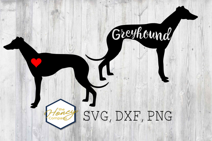 Greyhound SVG PNG DXF Dog Lover Clipart Breed Clipart Vector