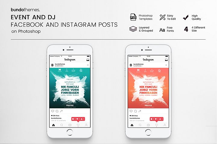 Event and DJ Facebook and Instagram Templates
