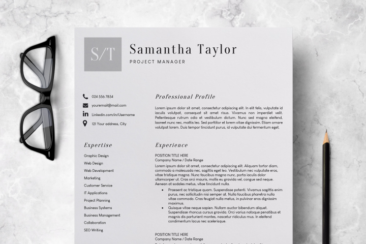 Resume Template | CV Template - Samantha Taylor