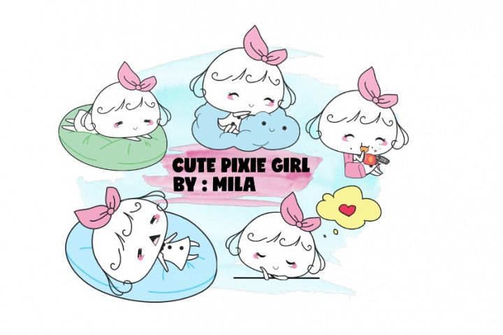 KAWAII GIRL CLIPART BUNDLE PNG