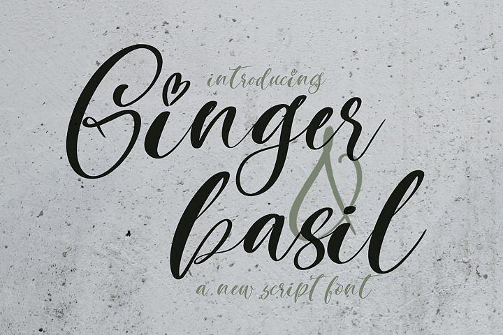 Ginger & Basil Script Font