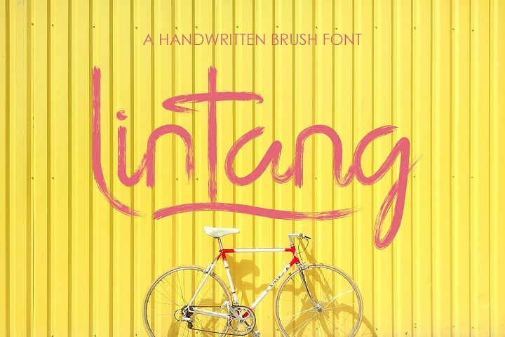 lintang handwritten brush font