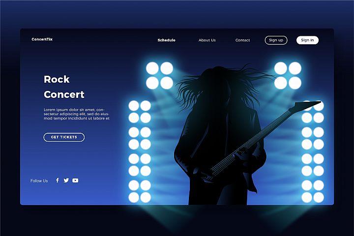 Rock concert 3 - Banner & Landing Page