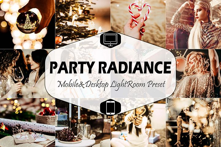 Party Radiance & Desktop Lightroom Presets, nightclub insta