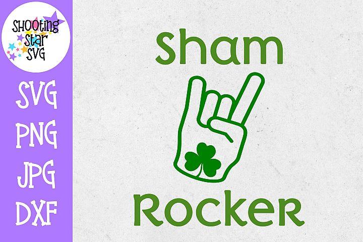 Sham Rocker with Shamrock SVG - St. Patricks Day SVG