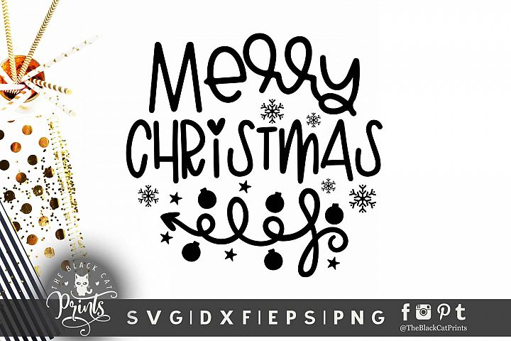 Merry Christmas SVG DXF EPS PNG Snowflakes Arrow cut files