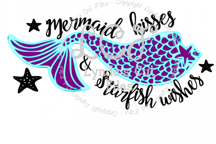 Mermaid Kisses//Summer SVG/EPS/DXF File